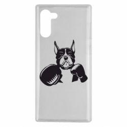 Чохол для Samsung Note 10 Собака в боксерських рукавичках