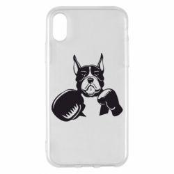 Чохол для iPhone X/Xs Собака в боксерських рукавичках