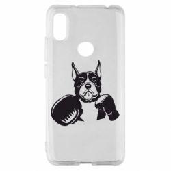 Чехол для Xiaomi Redmi S2 Собака в боксерских перчатках