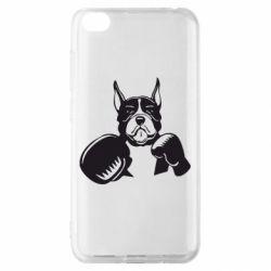 Чехол для Xiaomi Redmi Go Собака в боксерских перчатках