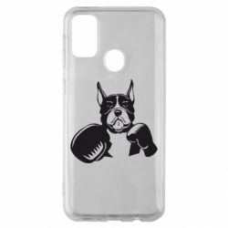 Чохол для Samsung M30s Собака в боксерських рукавичках