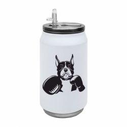 Термобанка 350ml Собака в боксерських рукавичках