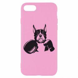 Чохол для iPhone 7 Собака в боксерських рукавичках