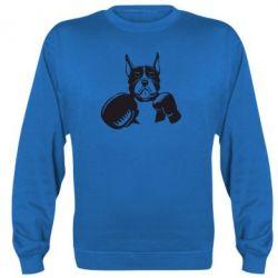 Реглан (свитшот) Собака в боксерских перчатках - FatLine