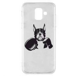 Чохол для Samsung A6 2018 Собака в боксерських рукавичках