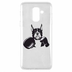 Чохол для Samsung A6+ 2018 Собака в боксерських рукавичках