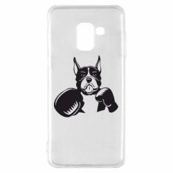 Чохол для Samsung A8 2018 Собака в боксерських рукавичках