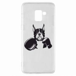 Чохол для Samsung A8+ 2018 Собака в боксерських рукавичках
