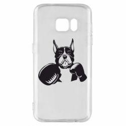 Чохол для Samsung S7 Собака в боксерських рукавичках