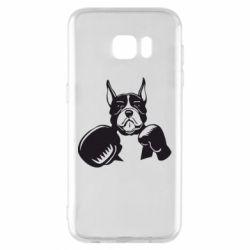 Чохол для Samsung S7 EDGE Собака в боксерських рукавичках