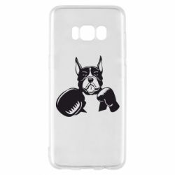 Чохол для Samsung S8 Собака в боксерських рукавичках