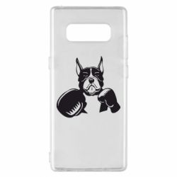 Чохол для Samsung Note 8 Собака в боксерських рукавичках