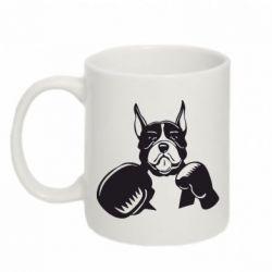 Кружка 320ml Собака в боксерских перчатках - FatLine