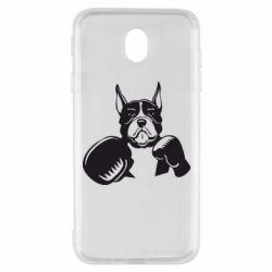 Чохол для Samsung J7 2017 Собака в боксерських рукавичках