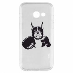 Чохол для Samsung A3 2017 Собака в боксерських рукавичках