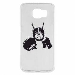 Чохол для Samsung S6 Собака в боксерських рукавичках