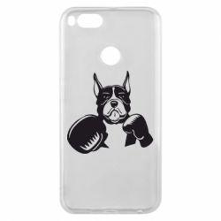 Чохол для Xiaomi Mi A1 Собака в боксерських рукав�