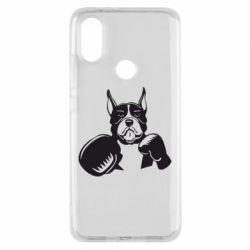 Чехол для Xiaomi Mi A2 Собака в боксерских перчатках