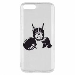 Чехол для Xiaomi Mi6 Собака в боксерских перчатках
