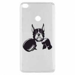Чехол для Xiaomi Mi Max 2 Собака в боксерских перчатках