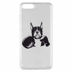 Чехол для Xiaomi Mi Note 3 Собака в боксерских перчатках