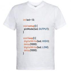 Чоловіча футболка з V-подібним вирізом Сode Arduino