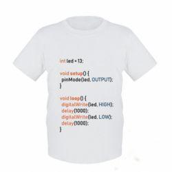 Дитяча футболка Сode Arduino