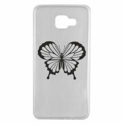 Чехол для Samsung A7 2016 Soft butterfly