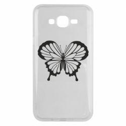 Чехол для Samsung J7 2015 Soft butterfly