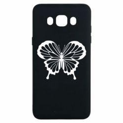 Чехол для Samsung J7 2016 Soft butterfly