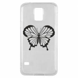 Чехол для Samsung S5 Soft butterfly