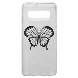 Чехол для Samsung S10+ Soft butterfly
