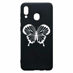 Чехол для Samsung A20 Soft butterfly