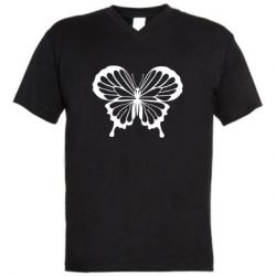 Мужская футболка  с V-образным вырезом Soft butterfly