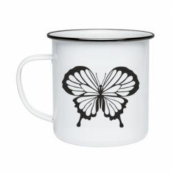 Кружка эмалированная Soft butterfly