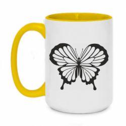 Кружка двухцветная 420ml Soft butterfly