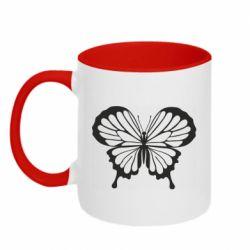 Кружка двухцветная 320ml Soft butterfly