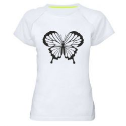 Женская спортивная футболка Soft butterfly