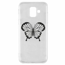 Чехол для Samsung A6 2018 Soft butterfly