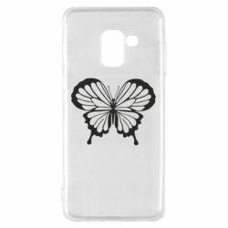 Чехол для Samsung A8 2018 Soft butterfly