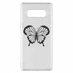 Чохол для Samsung Note 8 Soft butterfly