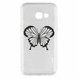 Чехол для Samsung A3 2017 Soft butterfly