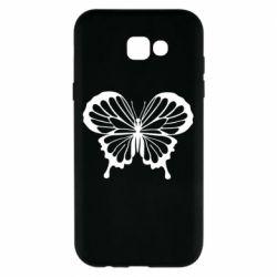 Чехол для Samsung A7 2017 Soft butterfly