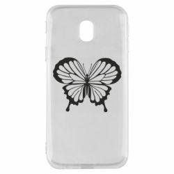 Чехол для Samsung J3 2017 Soft butterfly