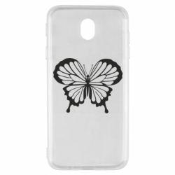 Чехол для Samsung J7 2017 Soft butterfly