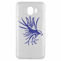 Чохол для Samsung J4 Сокіл та герб України