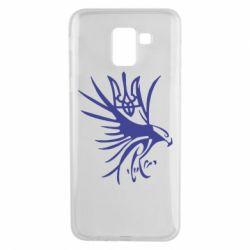 Чохол для Samsung J6 Сокіл та герб України