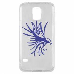 Чохол для Samsung S5 Сокіл та герб України