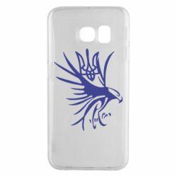 Чохол для Samsung S6 EDGE Сокіл та герб України