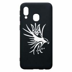 Чохол для Samsung A40 Сокіл та герб України